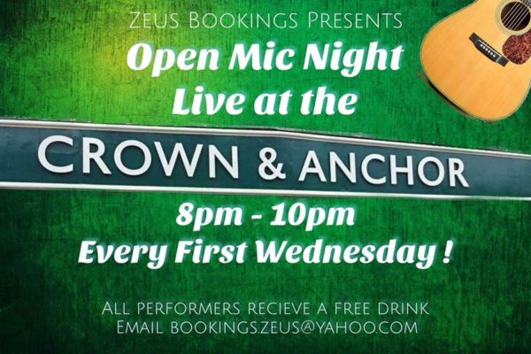 Open Mic every first Wednesday of the month